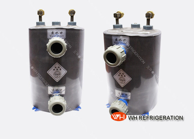 OEM-Design1.5 Ton Titanium Aquarium Heat Exchanger , Shell And Coil Type Evaporator