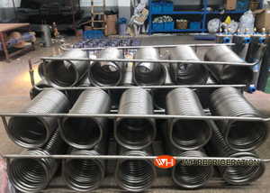 Immersion Coil Type Tube Heat Exchanger Seamless Stainless Steel Material