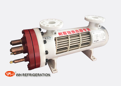 Dry Type U Tube Titanium Heat Exchanger For Heat Pump 209KW Cooilng Capacity