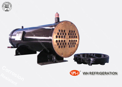Carbon Steel Boat Engine Shell And Tube Condenser , Sea Water Cooled Heat Exchanger