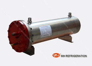 Marine Stainless Steel Heat Exchangers Shell And Tube Type , 40 KW Sea Water Condenser