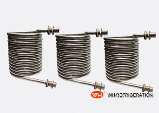Titanium Coil Heat Exchanger , Sea Water Condenser Coil Refrigeration Parts