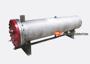 Steel Water Tube Heat Exchanger Industrial Refrigeration Parts 23.2kw Capacity