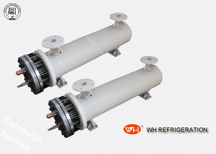 ISO Approved Shell & Tube Stainless Steel Heat Exchanger 30 hp Refrigeration Evaporator