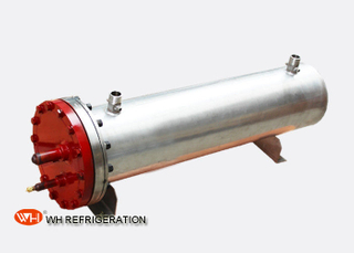 Stainless Steel Gas To Liquid Heat Exchanger Double Circuits Shell And Tube Type